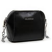 Чорна класична жіноча сумка-клатч шкіра А. Rai сумочка на ланцюжку з натуральної шкіри, фото 1