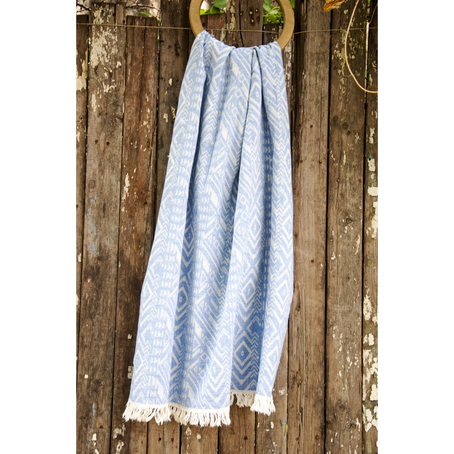 Полотенце Barine Pestemal - Argyle 90*160 Blue синее