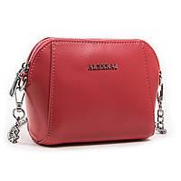 Червона жіноча класична сумка-клатч шкіра А. Rai сумочка на ланцюжку з натуральної шкіри, фото 1
