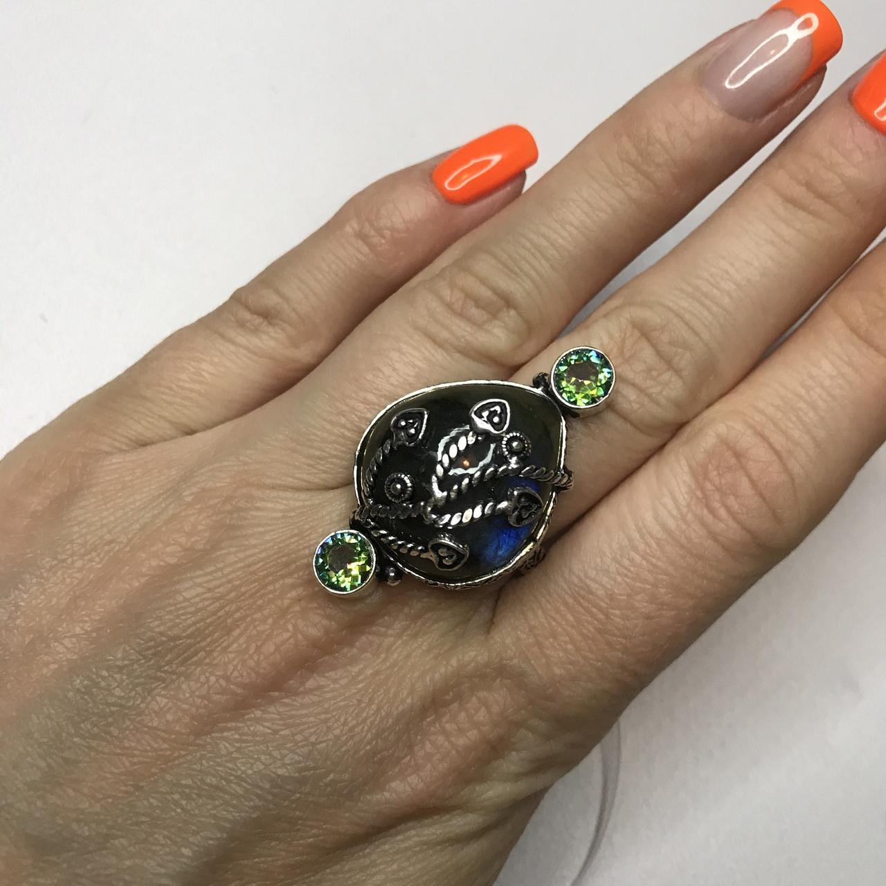 Лабрадор мистик топа18,5 р кольцо с натуральным лабрадором в серебре кольцо с лабрадором кольцо лабрадор Индия