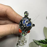 Лабрадор мистик топа18,5 р кольцо с натуральным лабрадором в серебре кольцо с лабрадором кольцо лабрадор Индия, фото 2