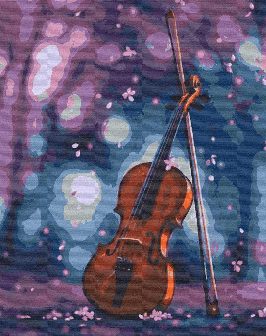Картина по номерам музыкальный инструмент скрипка 40х50 Симфония