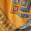 Набор постельное белье с покрывалом Karaca Home - Mentha hardal горчичный евро, фото 3