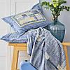 Набор постельное белье с пледом Karaca Home - Bosa indigo индиго евро, фото 2