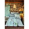 Набір постільна білизна з покривалом + плед Karaca Home - Lauro gri сірий євро, фото 4