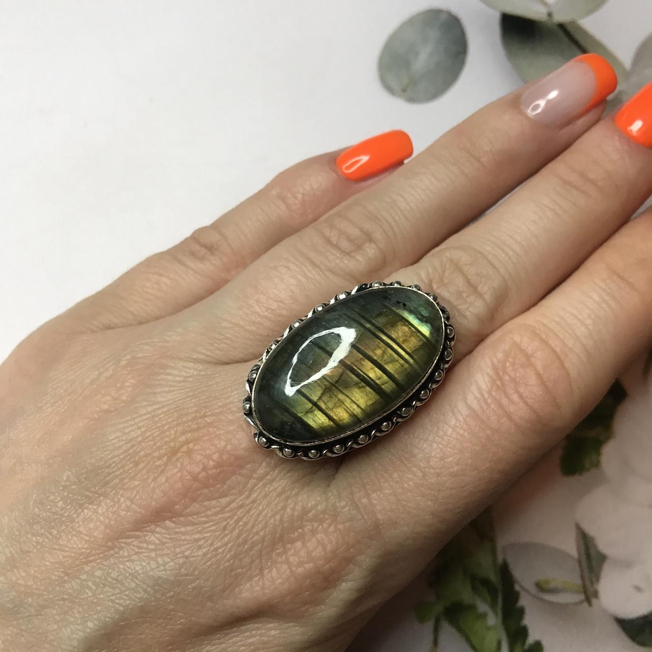 Лабрадор 17,5 р кольцо с натуральным лабрадором в серебре кольцо с лабрадором кольцо лабрадор Индия