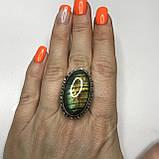 Лабрадор 17,5 р кольцо с натуральным лабрадором в серебре кольцо с лабрадором кольцо лабрадор Индия, фото 3