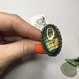 Лабрадор 17,5 р кольцо с натуральным лабрадором в серебре кольцо с лабрадором кольцо лабрадор Индия, фото 2