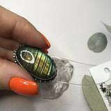 Лабрадор 17,5 р кольцо с натуральным лабрадором в серебре кольцо с лабрадором кольцо лабрадор Индия, фото 5