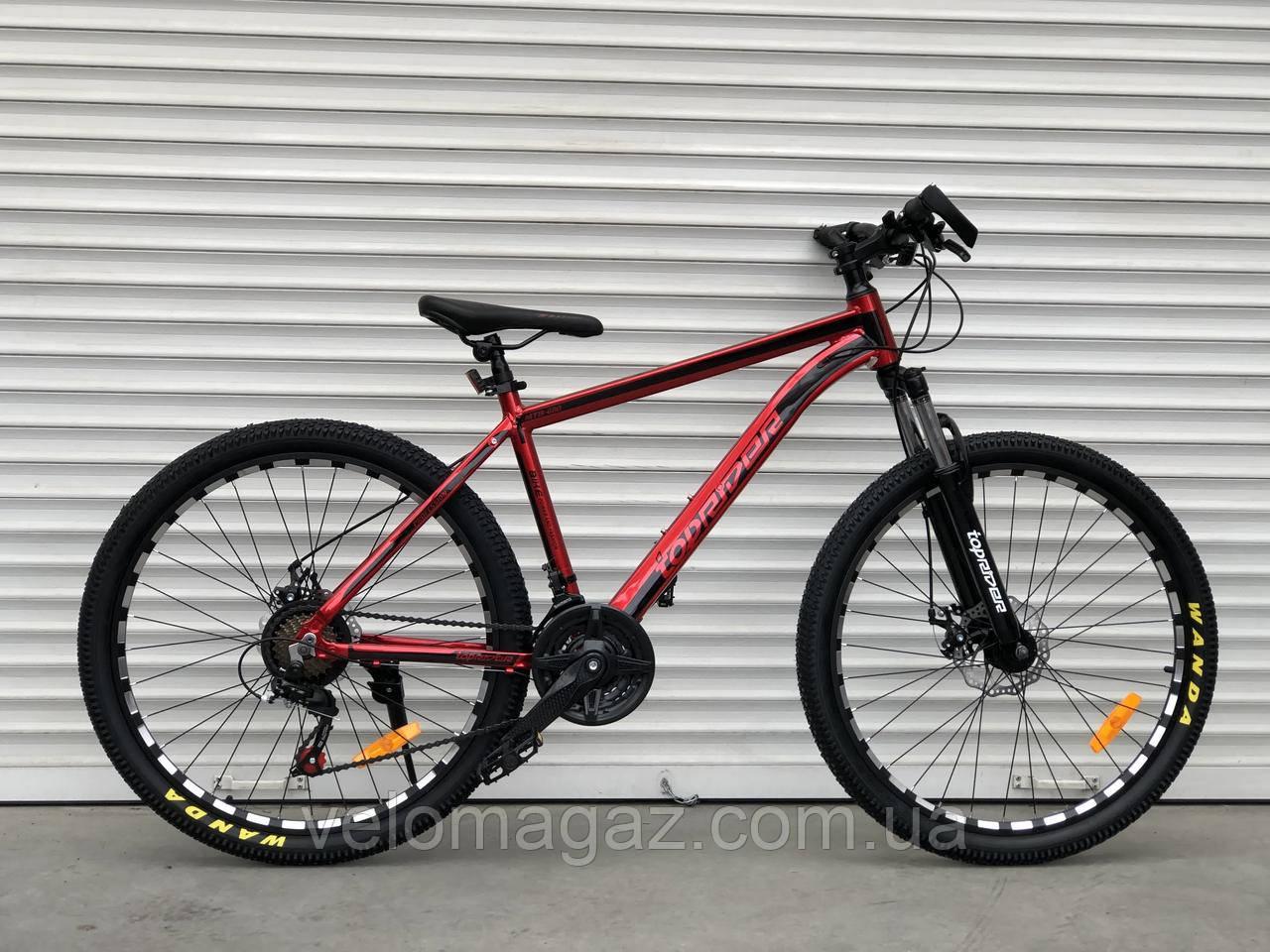 """Велосипед алюмінієвий гірський TopRider-680 26"""" Червоний"""