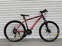"""Велосипед алюмінієвий гірський TopRider-680 26"""" Червоний, фото 1"""