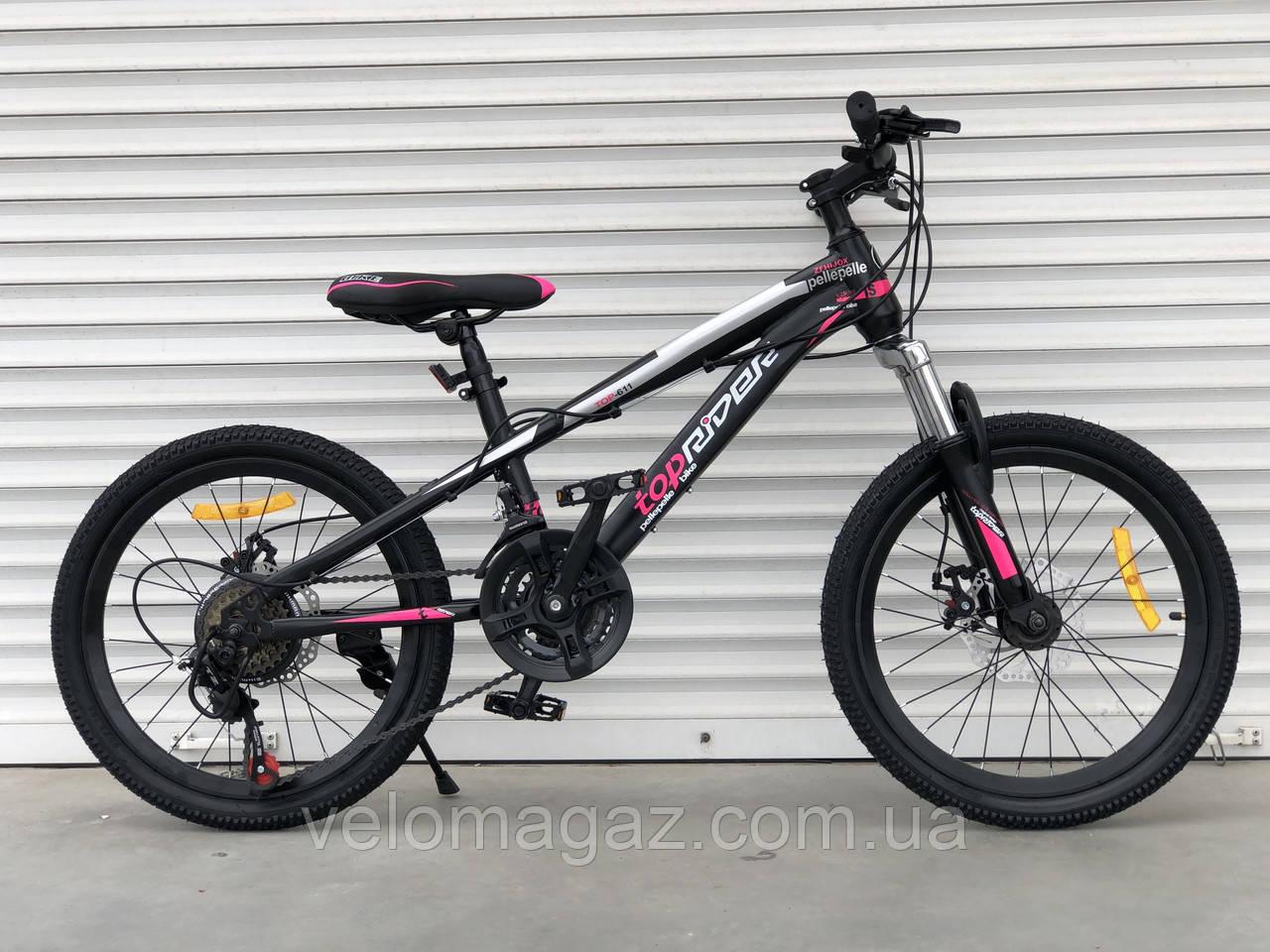 """Велосипед TopRider-611 20"""" гірський, рама 13"""""""