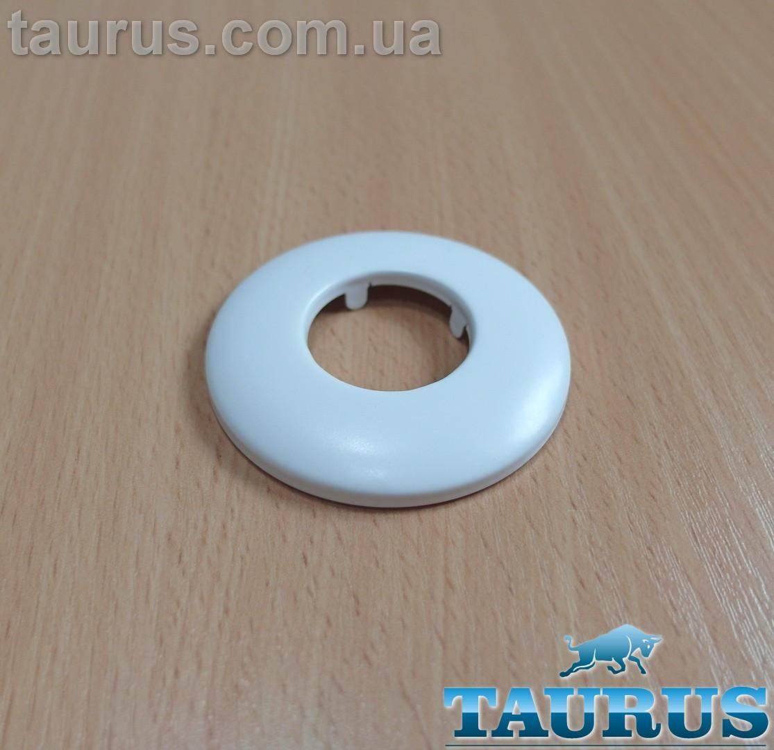 "Белый плоский декоративный н/ж фланец White размер D60 мм, высота до 8 мм под внутренний размер 3/4"" (25 мм)"