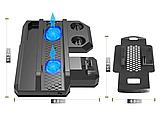 Багатофункціональна вертикальна охолоджуюча підставка DOBE для PS4 / Pro / Slim + PS VR / PS Move / Dualshock, фото 3