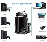 Багатофункціональна вертикальна охолоджуюча підставка DOBE для PS4 / Pro / Slim + PS VR / PS Move / Dualshock, фото 4