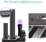 Багатофункціональна вертикальна охолоджуюча підставка DOBE для PS4 / Pro / Slim + PS VR / PS Move / Dualshock, фото 2