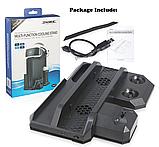 Багатофункціональна вертикальна охолоджуюча підставка DOBE для PS4 / Pro / Slim + PS VR / PS Move / Dualshock, фото 7