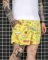 Мужские пляжные шорты для плаванья с принтами