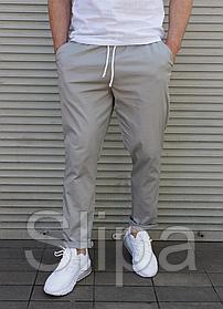 Летние мужские брюки серые
