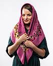 Кашемірова хустка з квітковим принтом 90х90см, фото 9