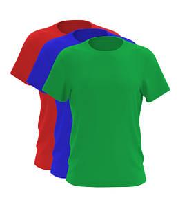 Набор из 3-х футболок синий белый красный черный зеленый 100% хлопок (любое сочетание), Разноцветный, На выбор