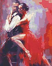 Картина по номерах танці 40х50 Танго