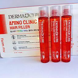 Восстанавливающий филлер для волос с аминокислотами FarmStay Derma Cube Amino Clinic Hair Fille 13мл