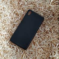 Чехол силиконовый плотный для Sony Xperia M4 Aqua, Черный