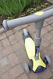 Самокат триколісний Best Scooter складаний New Жовтий, фото 3