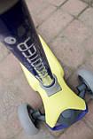 Самокат триколісний Best Scooter складаний New Жовтий, фото 4