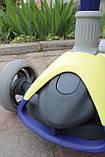 Самокат триколісний Best Scooter складаний New Жовтий, фото 5