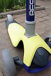 Самокат триколісний Best Scooter складаний New Жовтий, фото 6