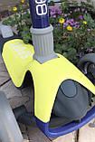 Самокат триколісний Best Scooter складаний New Жовтий, фото 7