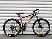 """Велосипед алюмінієвий гірський TopRider-680 26"""" Золотий, фото 1"""