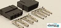 Конектор живлення PSU 4-Pin Molex збірної + контакти,Комплект .Роз'єм блоку живлення/ відеокарта під обжимку, фото 1