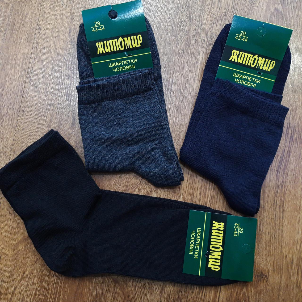 """Шкарпетки чоловічі стрейчеві """"Житомир"""" 29(43-44)"""
