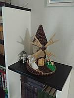 Искусственная мельница украшение для дома топиарий для кофейни для ресторана