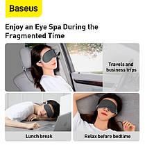Маска для сну і відпочинку Baseus Eye Cover FMYZ-0G лайкра і бавовна пов'язка для сну і релаксу нічна, фото 3