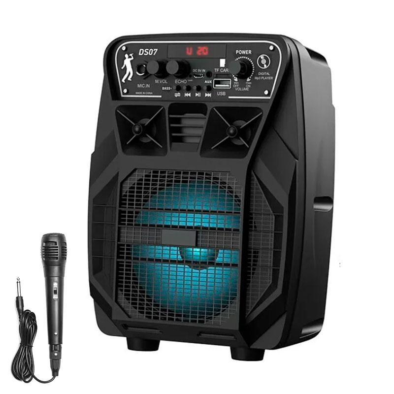 Портативна бездротова Bluetooth колонка валізу з мікрофоном HOCO Dancer outdoor wireless speaker DS07