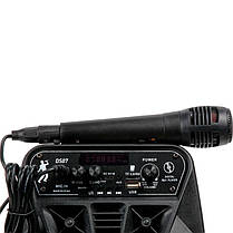 Портативна бездротова Bluetooth колонка валізу з мікрофоном HOCO Dancer outdoor wireless speaker DS07, фото 2