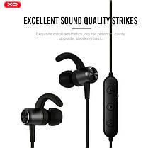 Бездротові навушники гарнітура вкладиші для телефону Bluetooth XO BS11 вакуумні чорні, фото 2