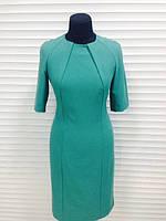 Платье зеленое приталенное