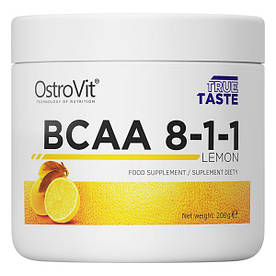 BCAA OstroVit BCAA 8-1-1, 200 грамм Лимон СРОК 06.21