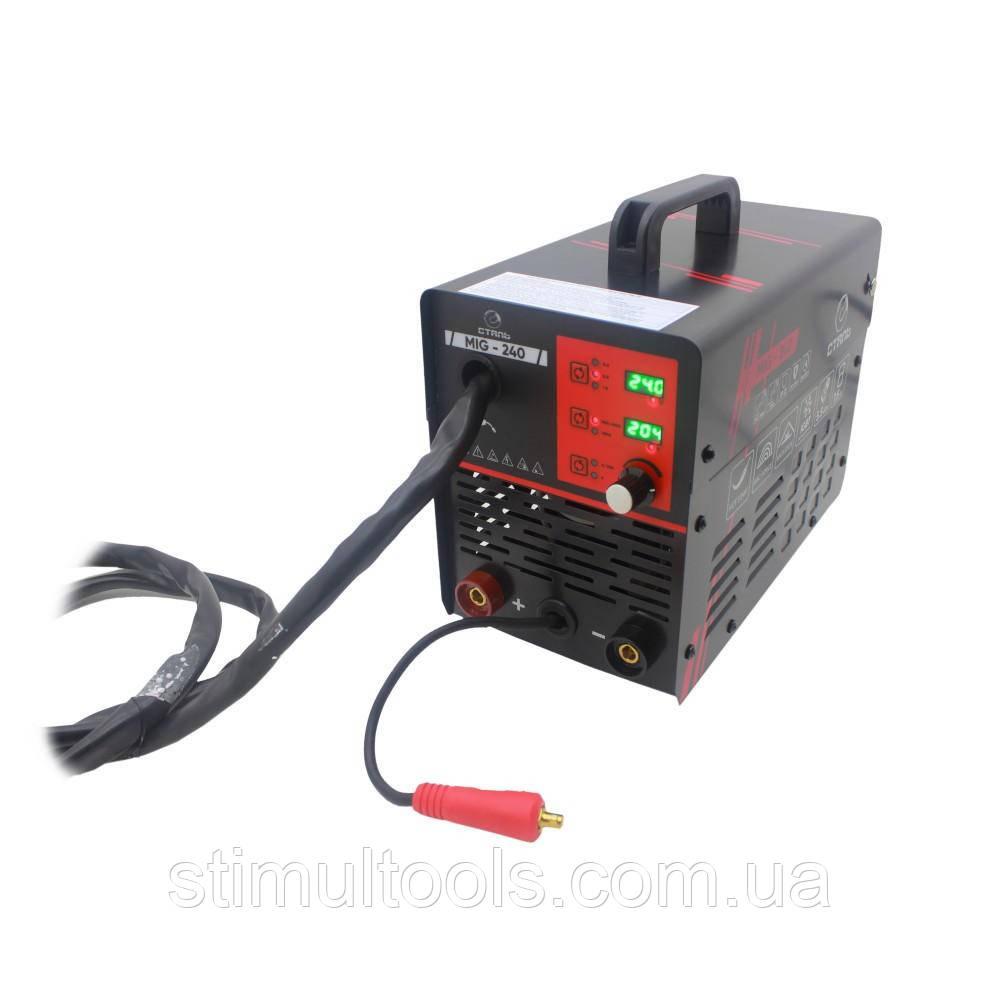 Зварювальний інвертор напівавтомат Сталь MULTI-MIG-240 PROFI (варить алюміній)