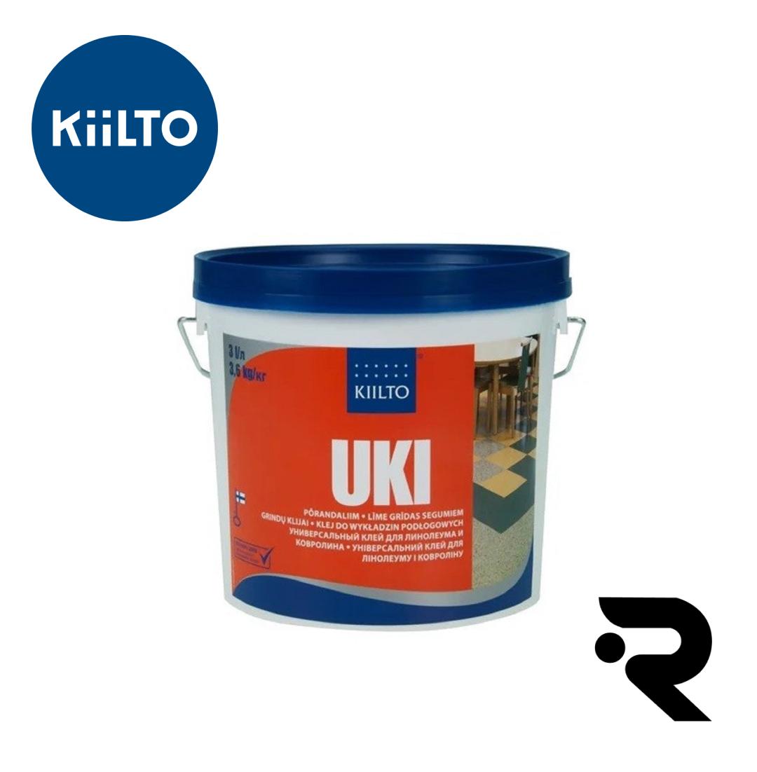 """Kiilto """"UKI"""" універсальний клей для лінолеуму і ковроліну 3 л"""