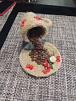 Чашка с кофем топиарий украшение в ресторан в кофейню в бар