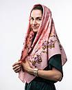 Кашемірова хустка з квітковим принтом 90х90см, фото 2