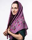 Кашемірова хустка з квітковим принтом 90х90см, фото 4