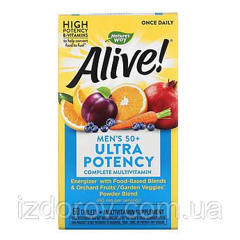 Nature's Way, Alive! Once Daily, Мультивитамины для мужчин 50+, 60 таблеток