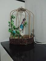 Птичка в клетке искусственная клетка украшение для дома топиарий для кофейни для ресторана